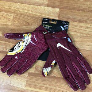Nike NFL Washington Redskins Superbad Football Gloves Men's Size 3XL Magnigrip